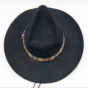 Resistol Western Hot Dogger's Hat Black Embroidery